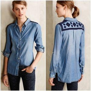 Anthropologie Dakota Buttondown shirt chambray